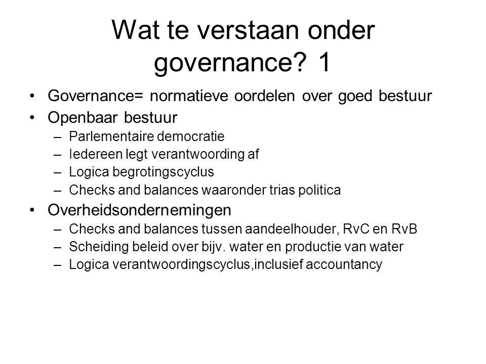Wat te verstaan onder governance 1