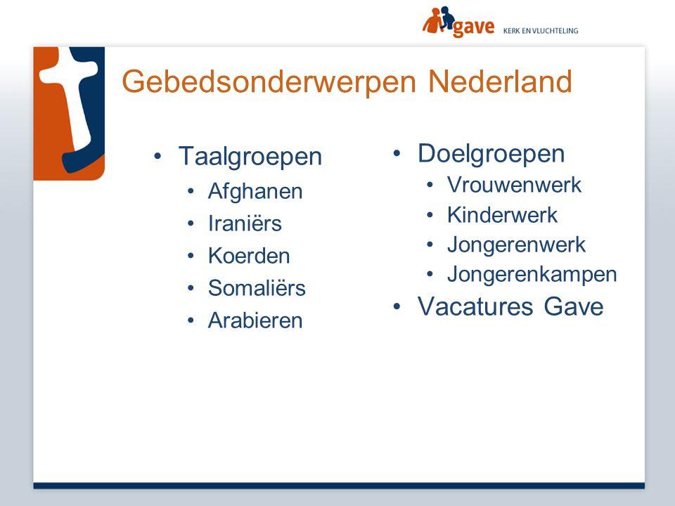 Gebedsonderwerpen Nederland