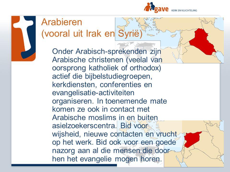 Arabieren (vooral uit Irak en Syrië)