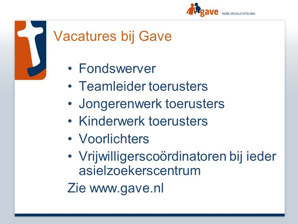Vacatures bij Gave Fondswerver Teamleider toerusters