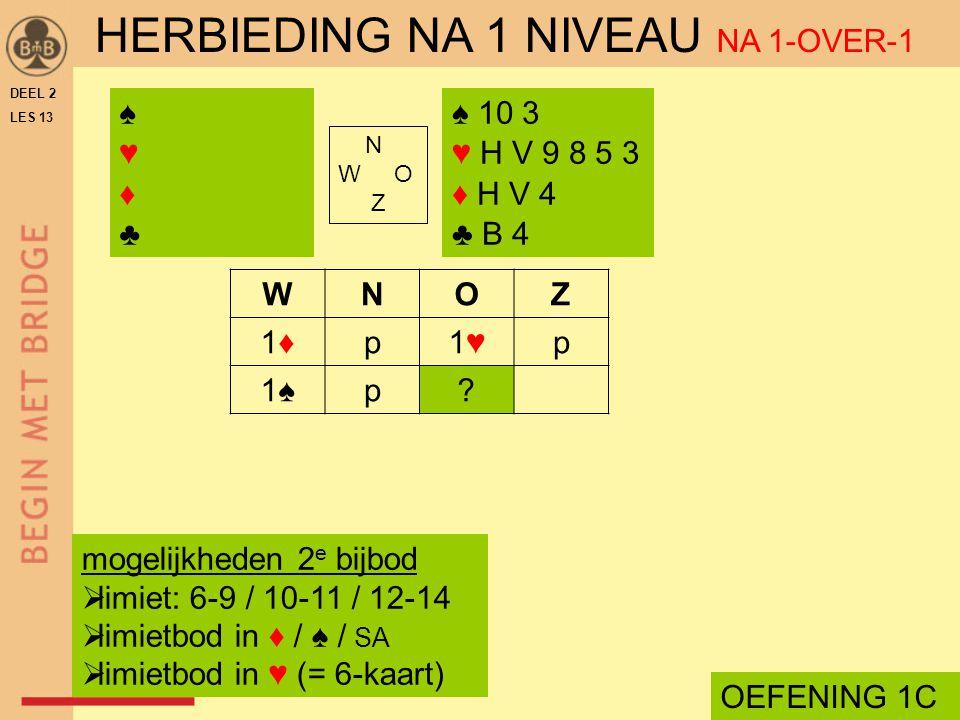 HERBIEDING NA 1 NIVEAU NA 1-OVER-1