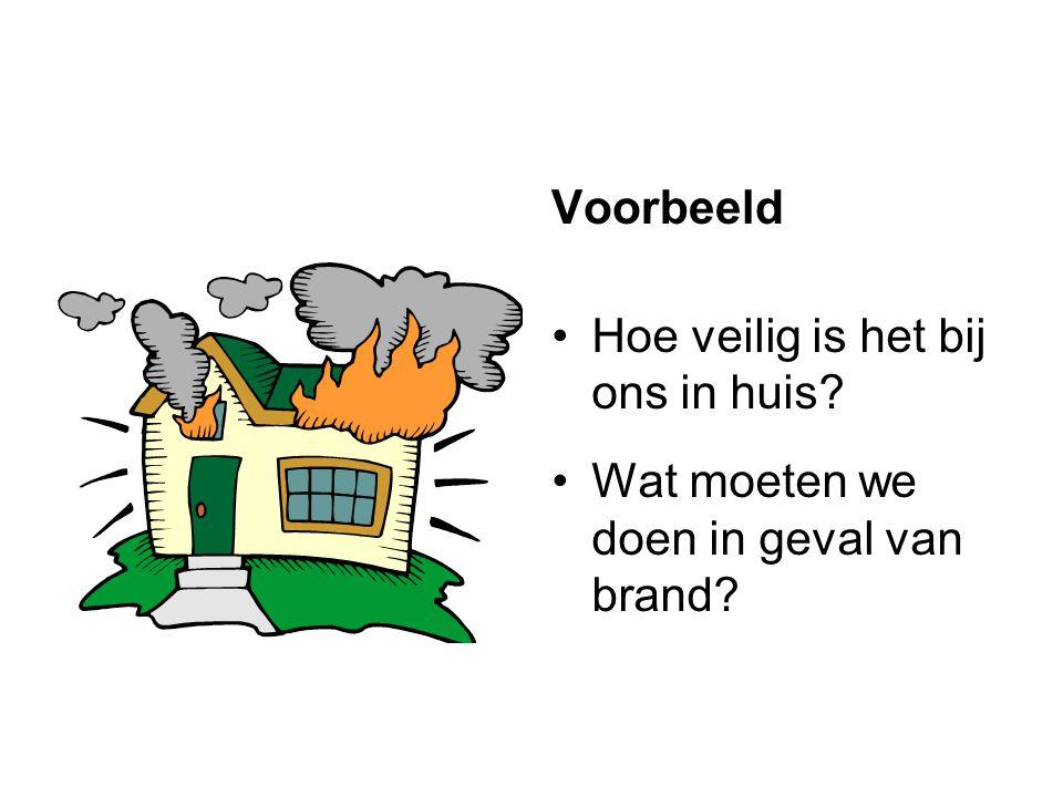 Voorbeeld Hoe veilig is het bij ons in huis Wat moeten we doen in geval van brand