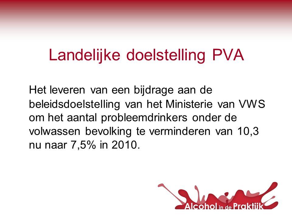 Landelijke doelstelling PVA
