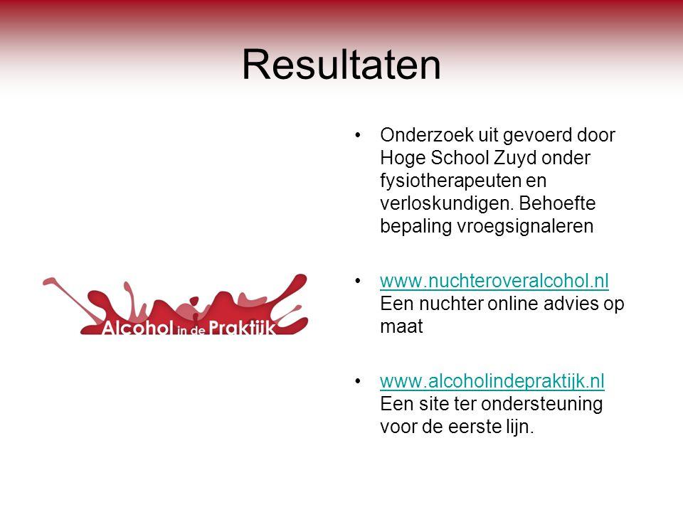 Resultaten Onderzoek uit gevoerd door Hoge School Zuyd onder fysiotherapeuten en verloskundigen. Behoefte bepaling vroegsignaleren.