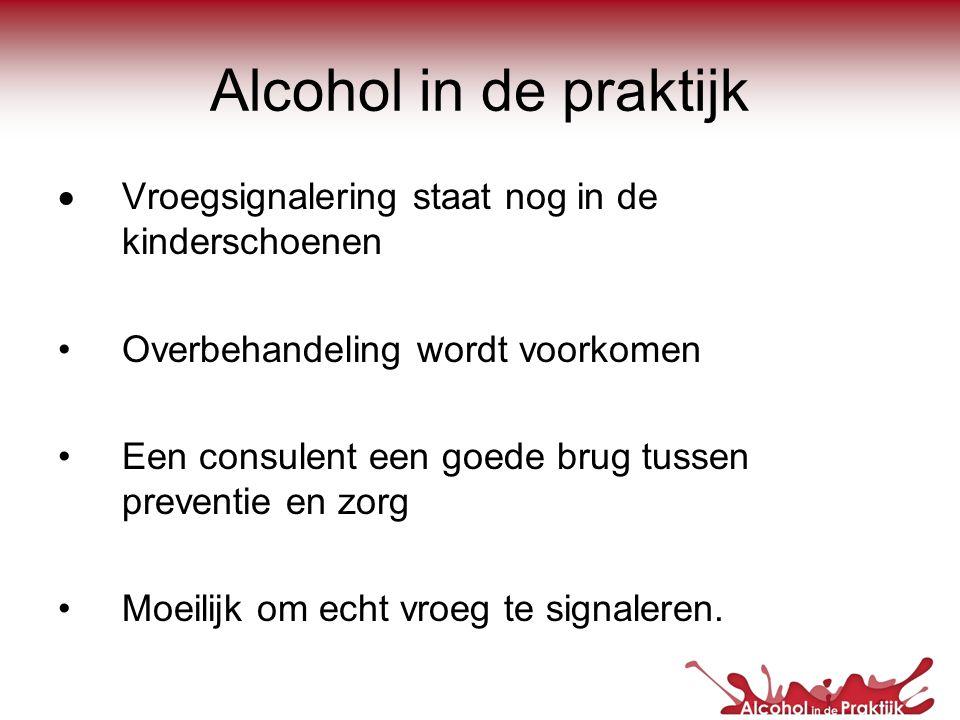Alcohol in de praktijk Vroegsignalering staat nog in de kinderschoenen