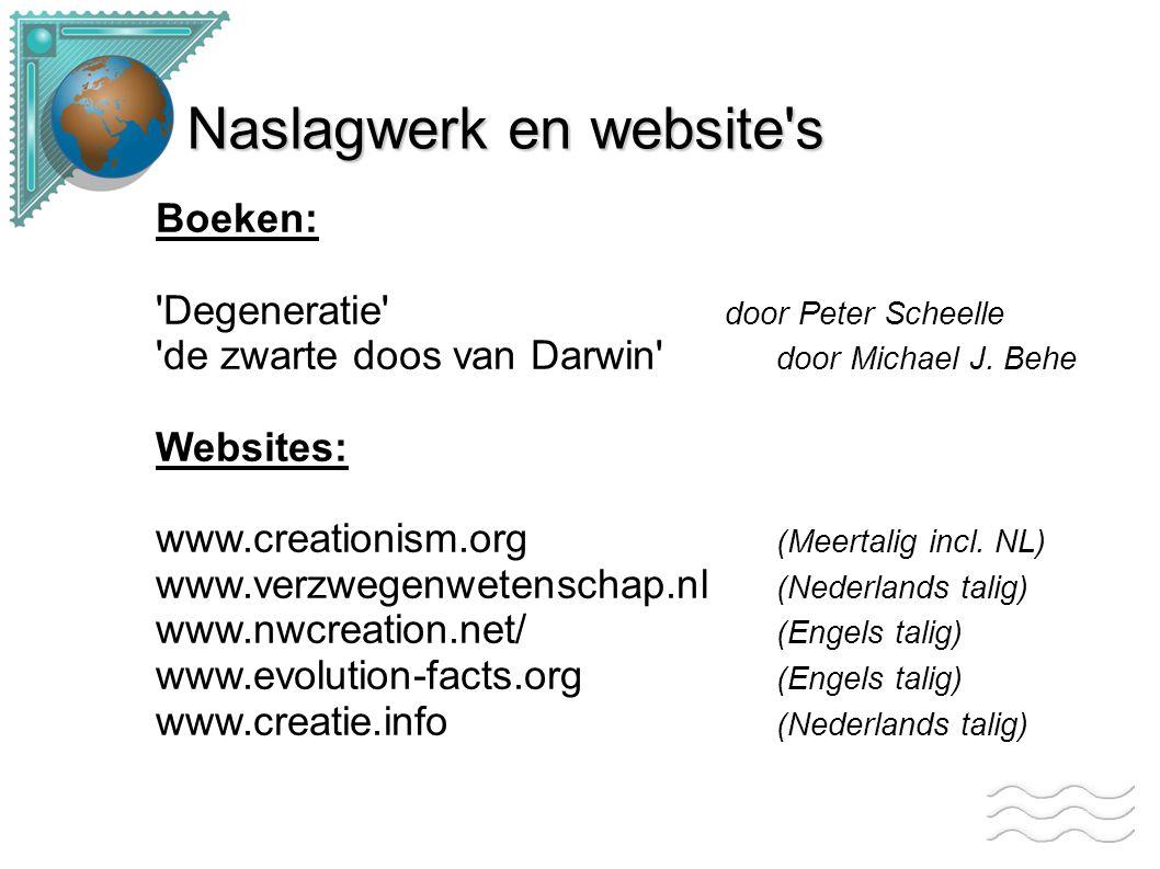 Naslagwerk en website s