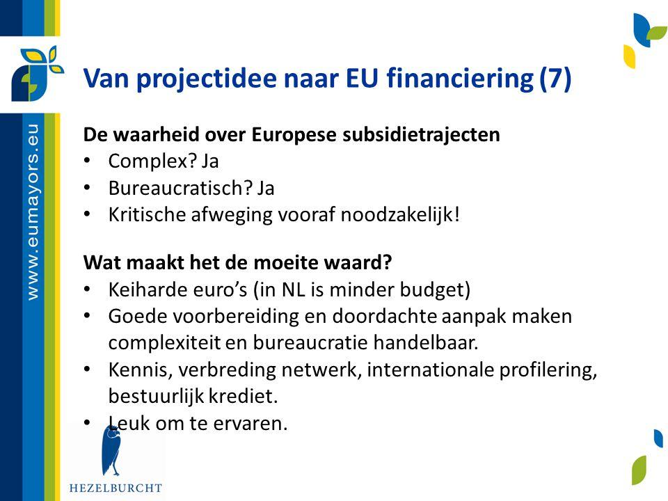Van projectidee naar EU financiering (7)