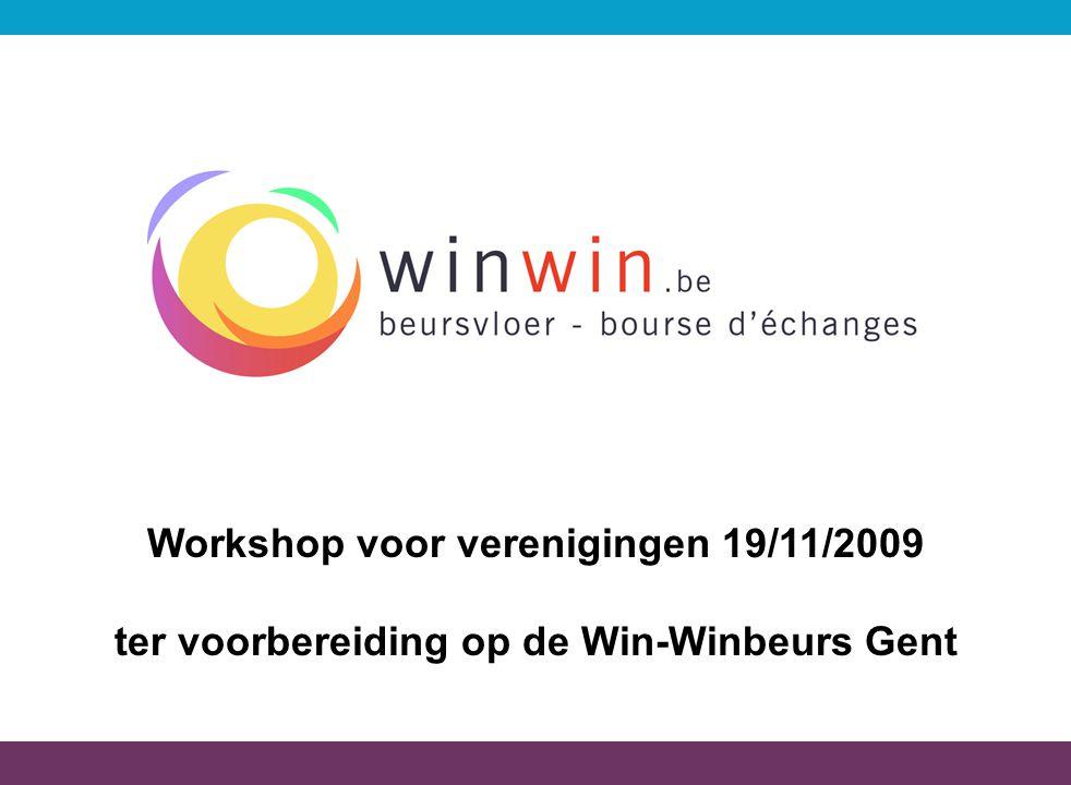 Workshop voor verenigingen 19/11/2009
