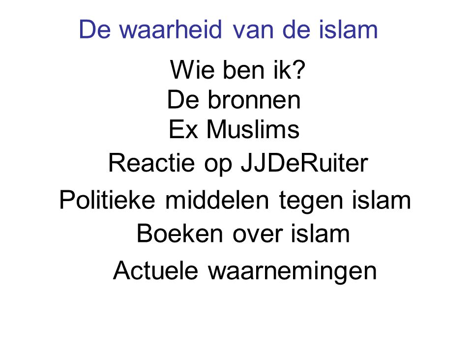 De waarheid van de islam