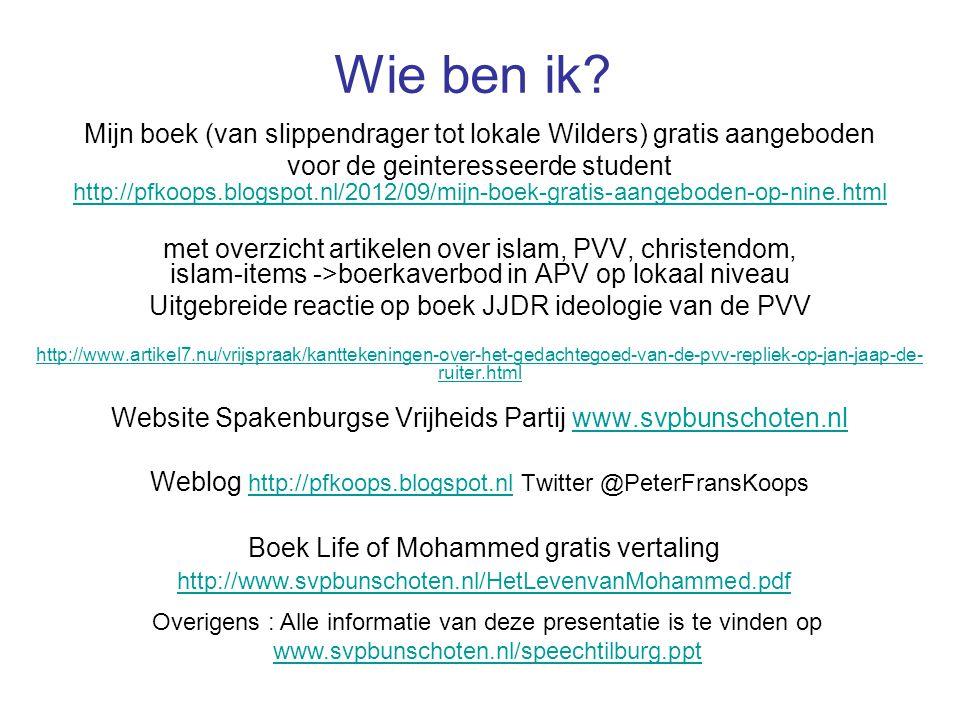 Wie ben ik Mijn boek (van slippendrager tot lokale Wilders) gratis aangeboden.