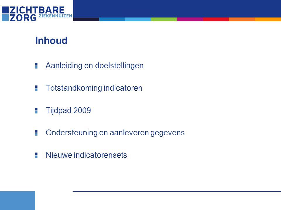Inhoud Aanleiding en doelstellingen Totstandkoming indicatoren