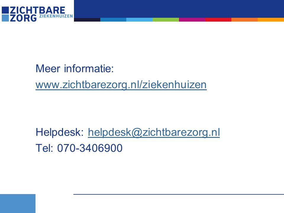 Meer informatie: www.zichtbarezorg.nl/ziekenhuizen.