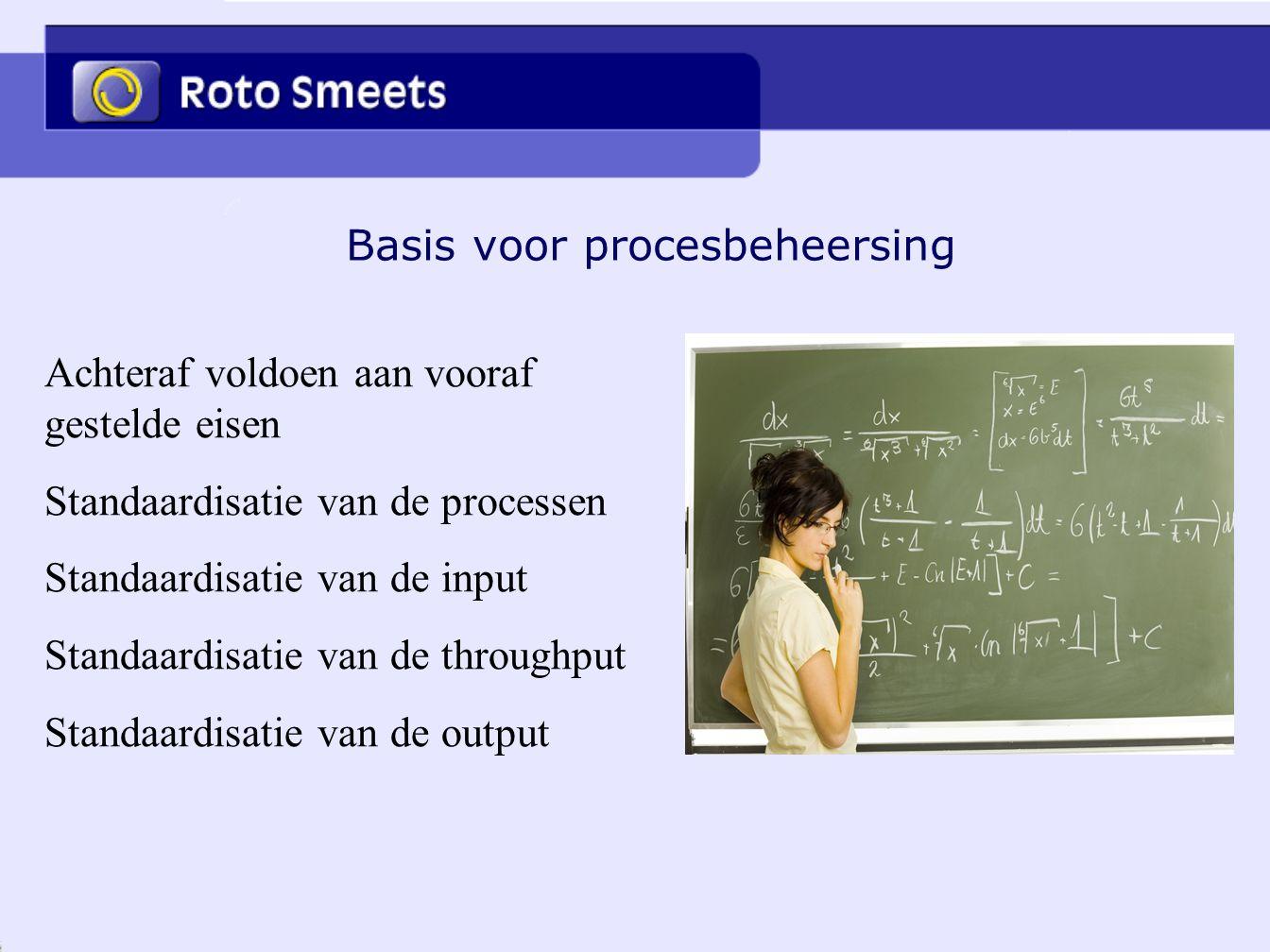 Basis voor procesbeheersing