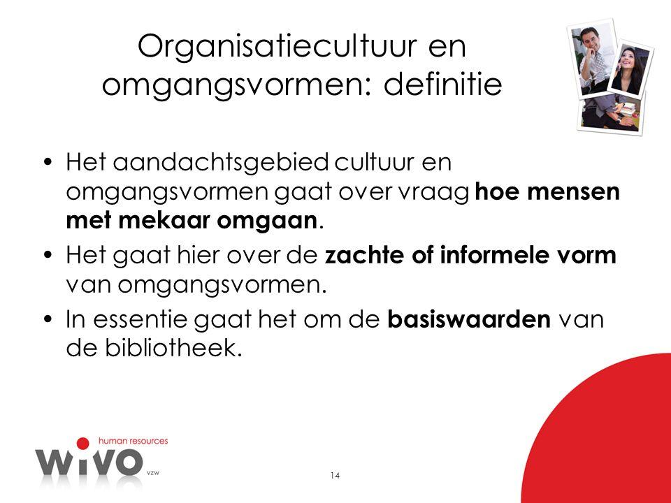Organisatiecultuur en omgangsvormen: definitie