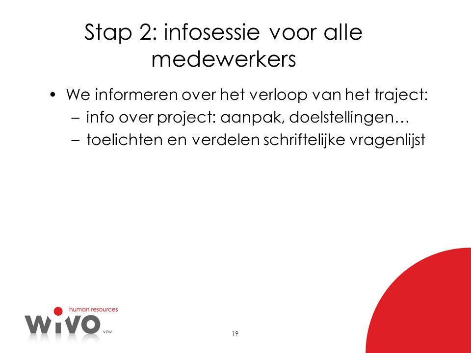 Stap 2: infosessie voor alle medewerkers