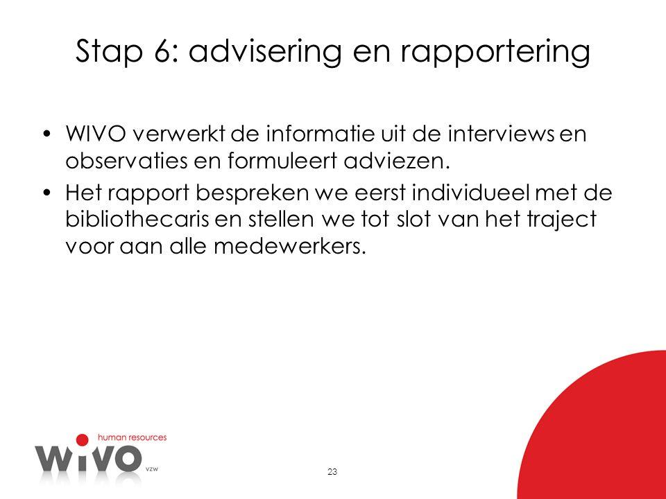 Stap 6: advisering en rapportering