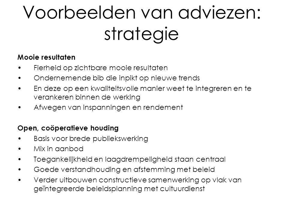 Voorbeelden van adviezen: strategie