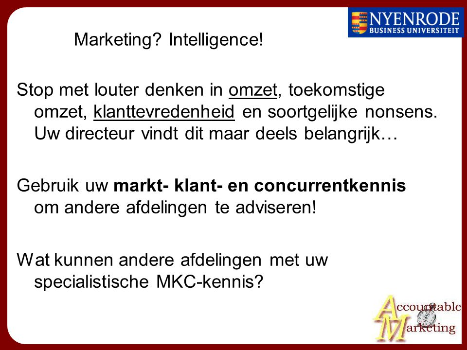 Marketing Intelligence!