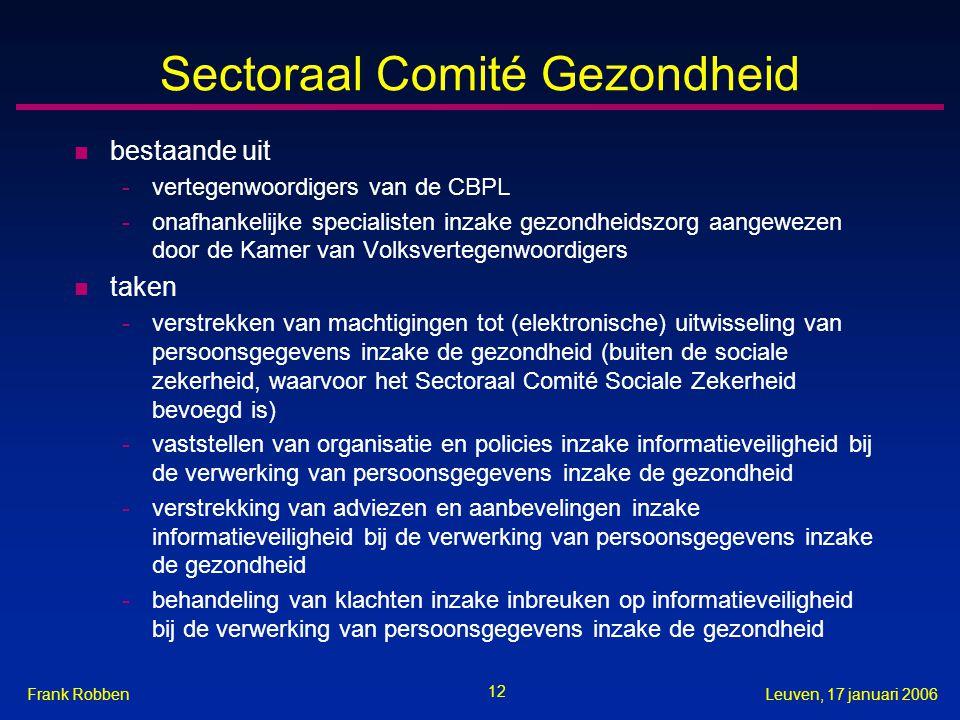 Sectoraal Comité Gezondheid