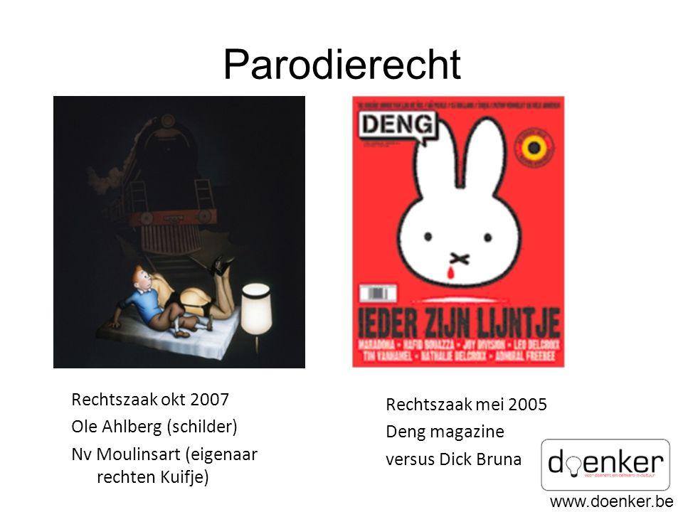 Parodierecht Rechtszaak okt 2007 Rechtszaak mei 2005