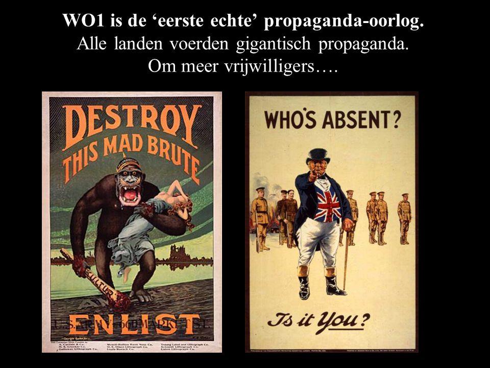 WO1 is de 'eerste echte' propaganda-oorlog