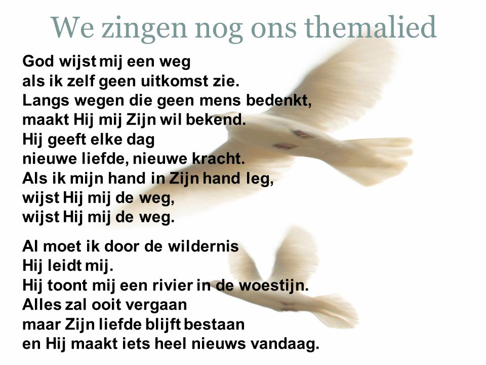 We zingen nog ons themalied
