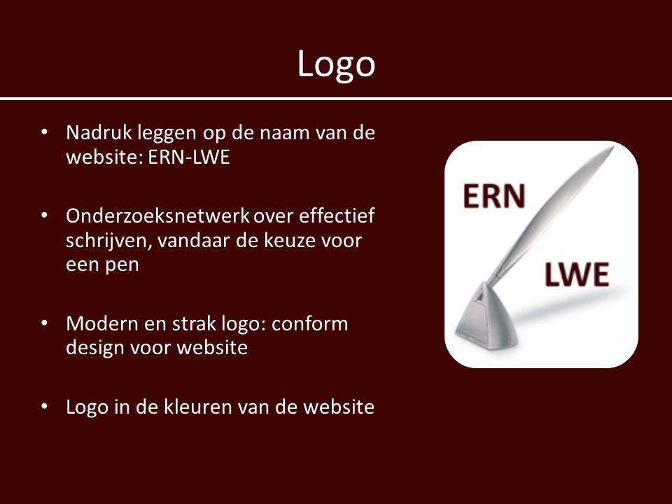 Logo Nadruk leggen op de naam van de website: ERN-LWE