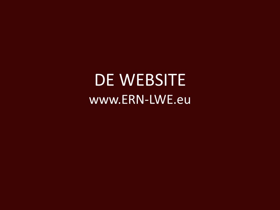 DE WEBSITE www.ERN-LWE.eu