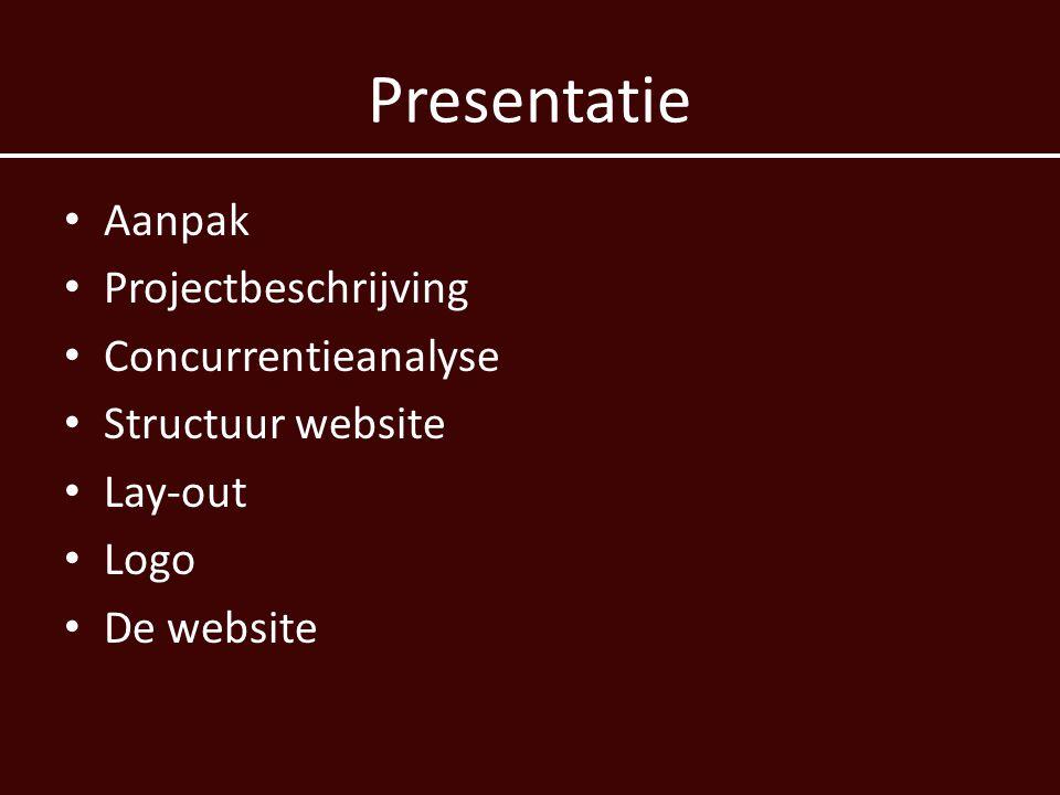 Presentatie Aanpak Projectbeschrijving Concurrentieanalyse