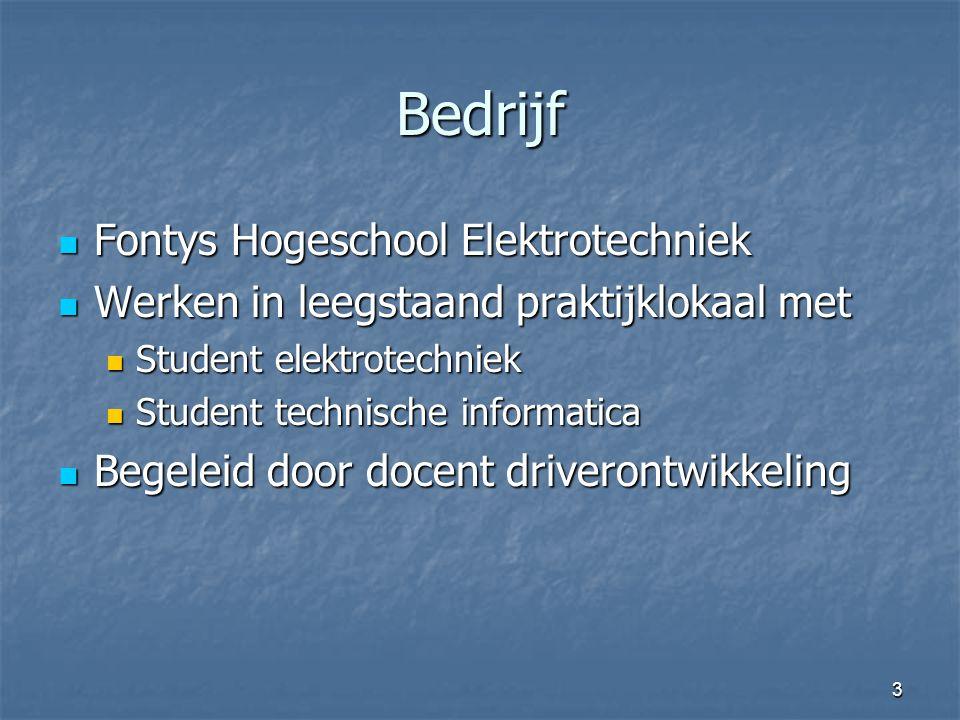 Bedrijf Fontys Hogeschool Elektrotechniek