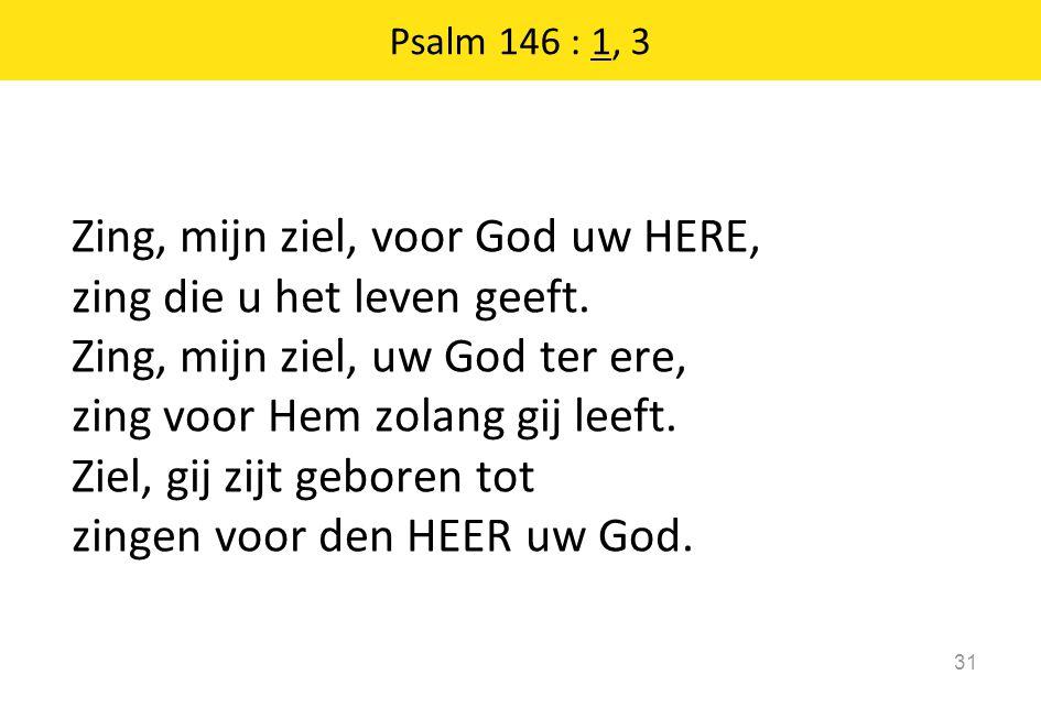 Psalm 146 : 1, 3