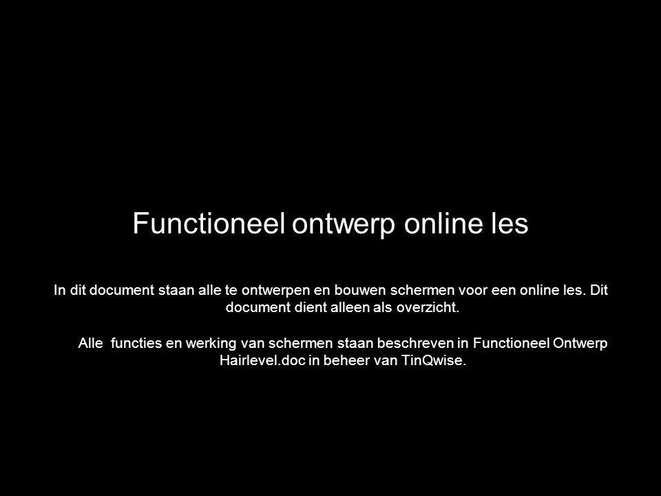 Functioneel ontwerp online les