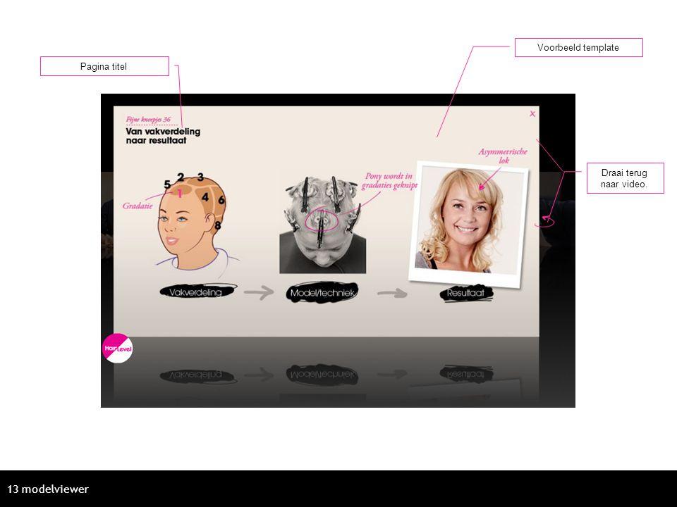 Voorbeeld template Pagina titel Draai terug naar video. 13 modelviewer