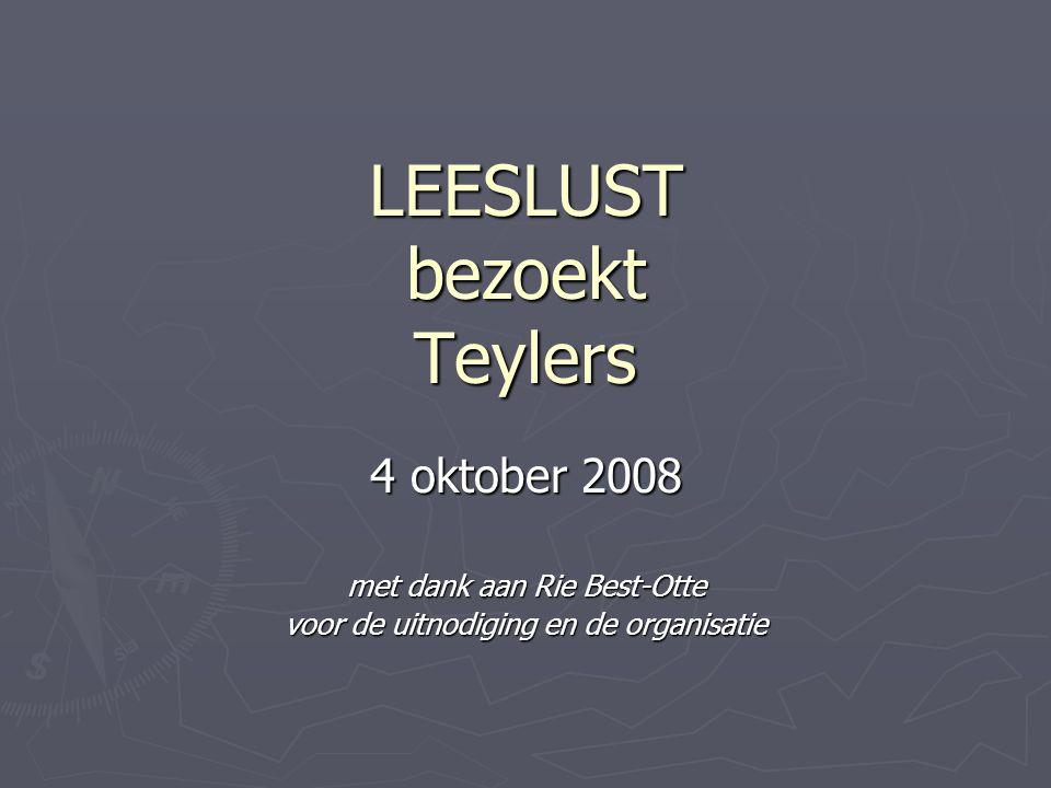LEESLUST bezoekt Teylers
