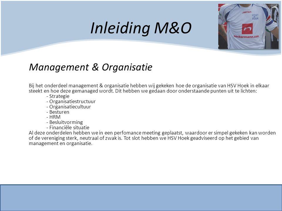 Inleiding M&O