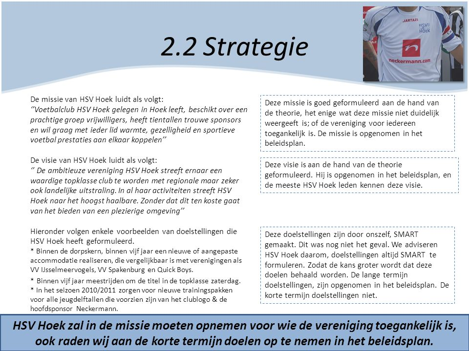2.2 Strategie
