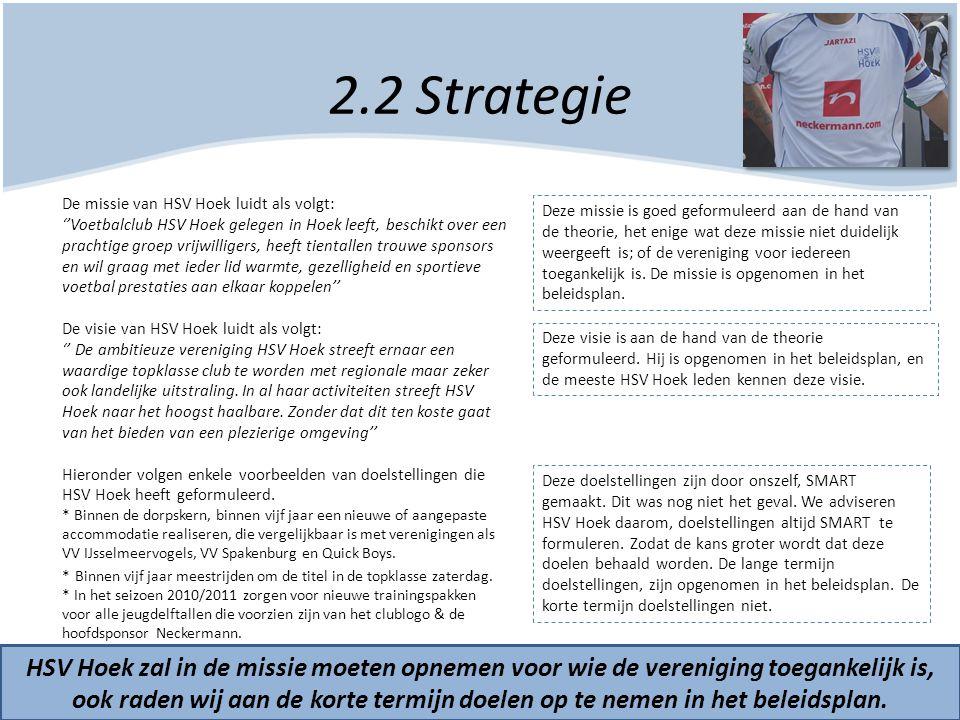 2.2 Strategie