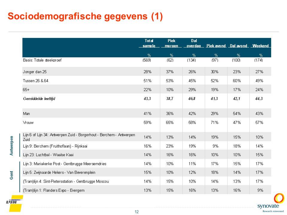 Sociodemografische gegevens (1)
