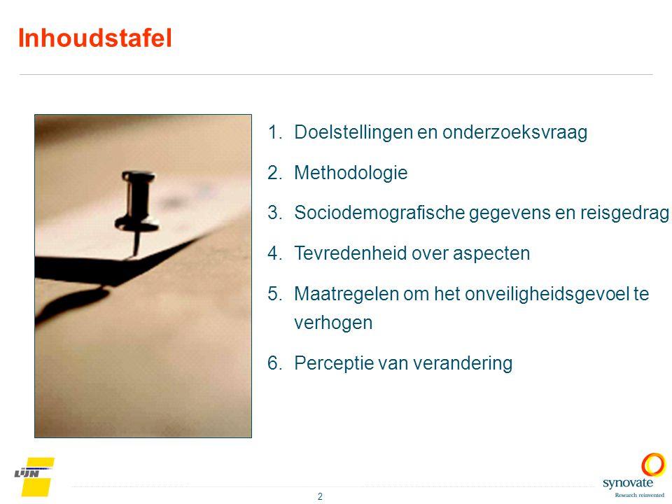 Inhoudstafel Doelstellingen en onderzoeksvraag Methodologie