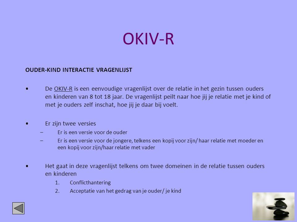 OKIV-R OUDER-KIND INTERACTIE VRAGENLIJST