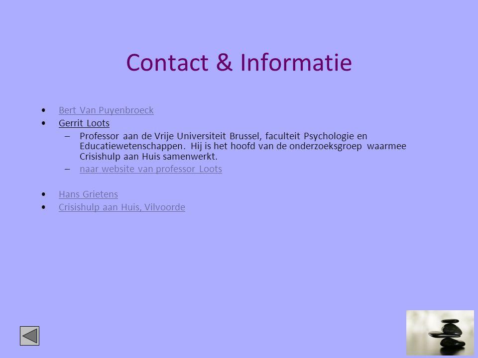 Contact & Informatie Bert Van Puyenbroeck Gerrit Loots