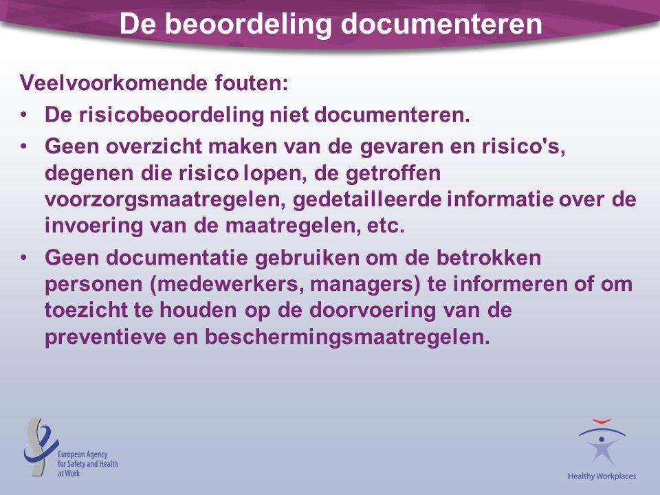 De beoordeling documenteren