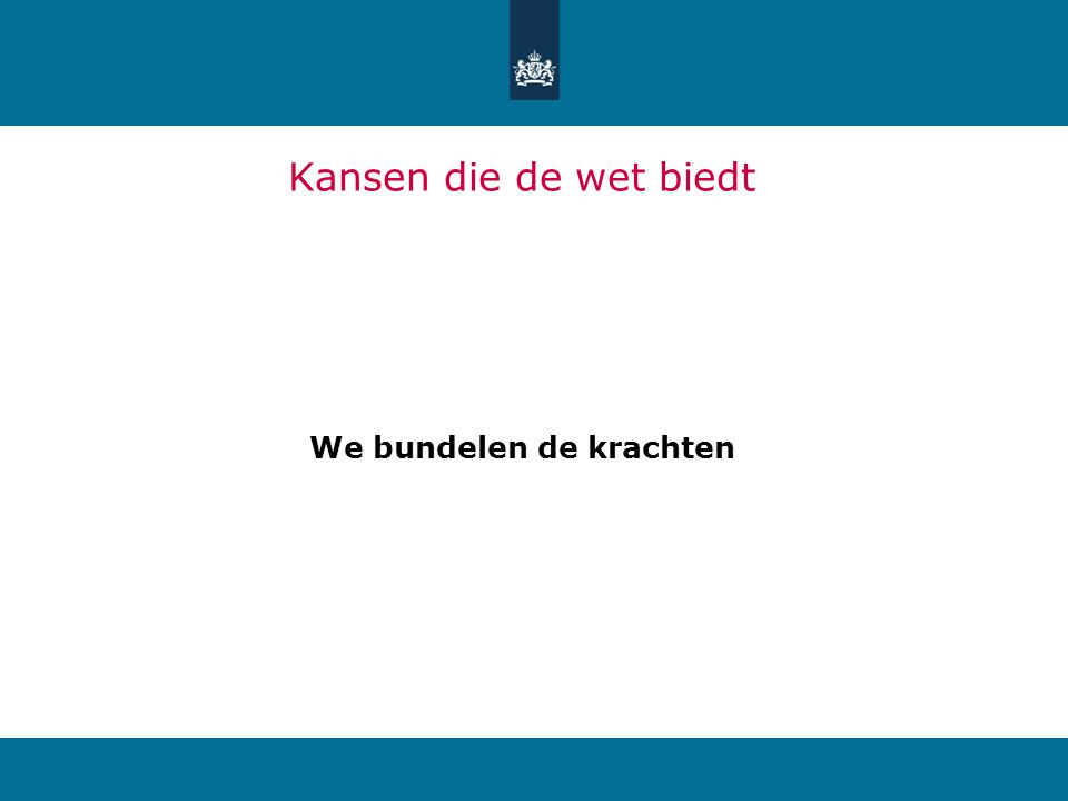 We bundelen de krachten