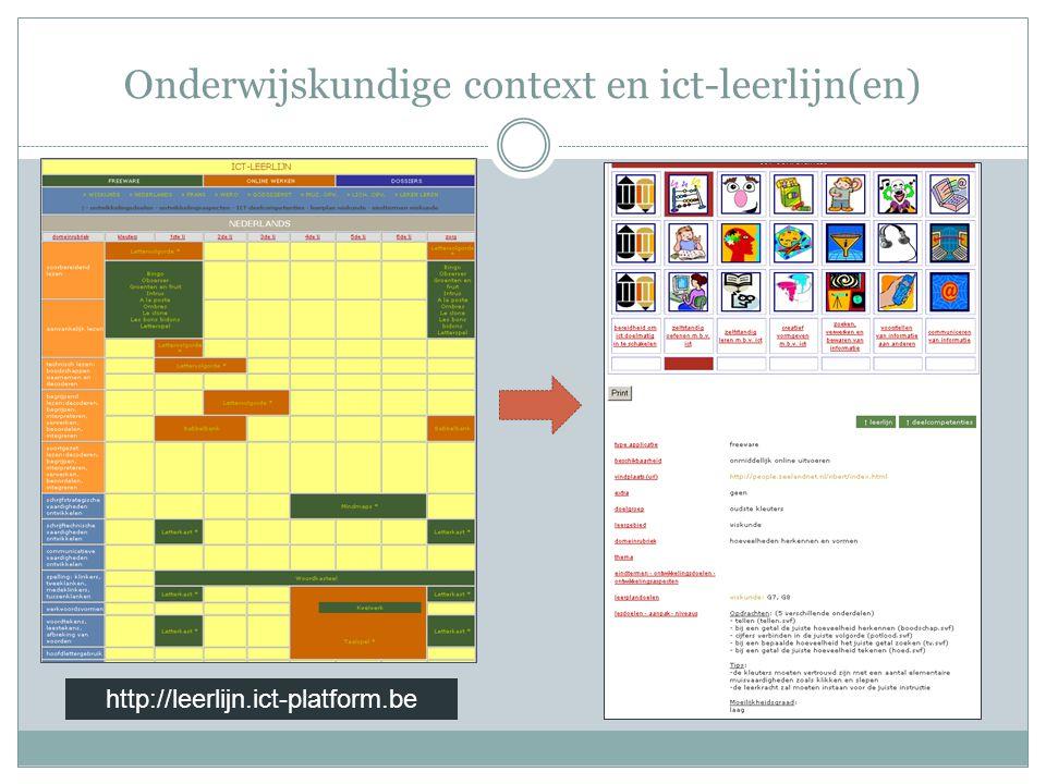 Onderwijskundige context en ict-leerlijn(en)