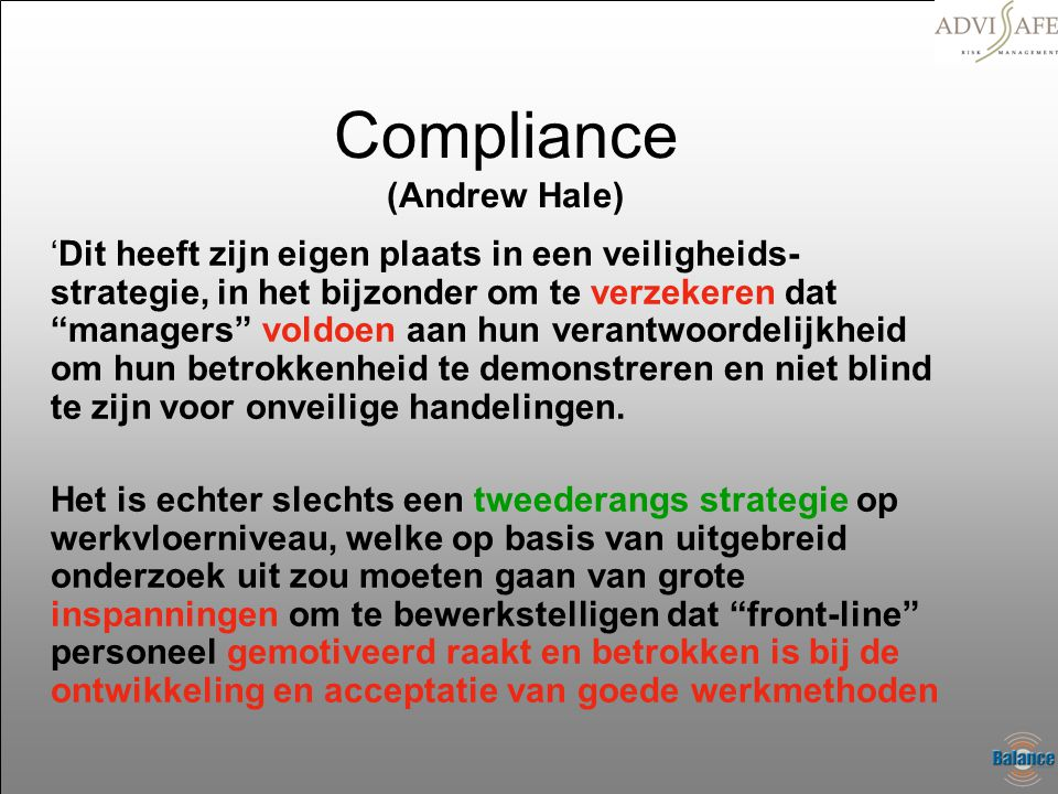 Compliance (Andrew Hale)
