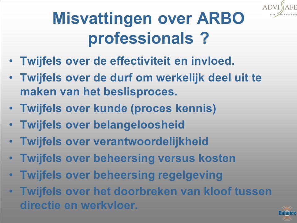 Misvattingen over ARBO professionals