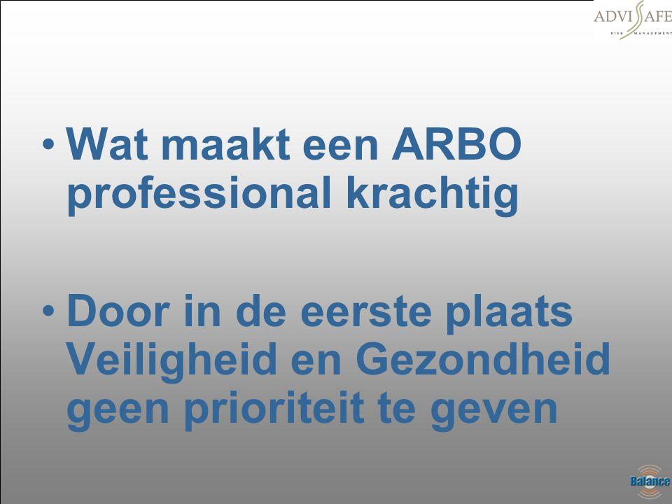 Wat maakt een ARBO professional krachtig