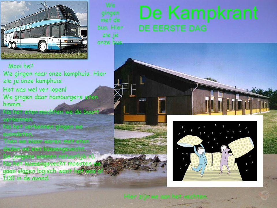 We gingen met de bus. Hier zie je onze bus.