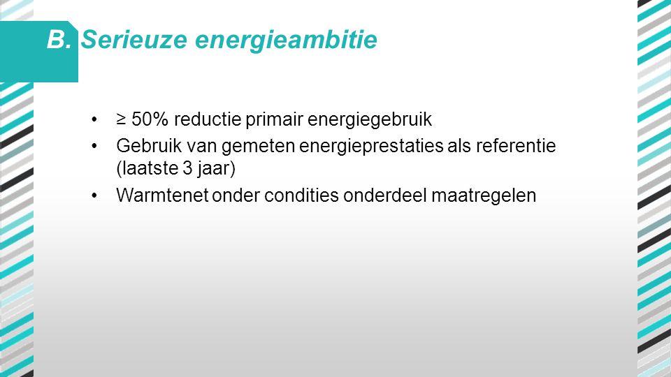 B. Serieuze energieambitie