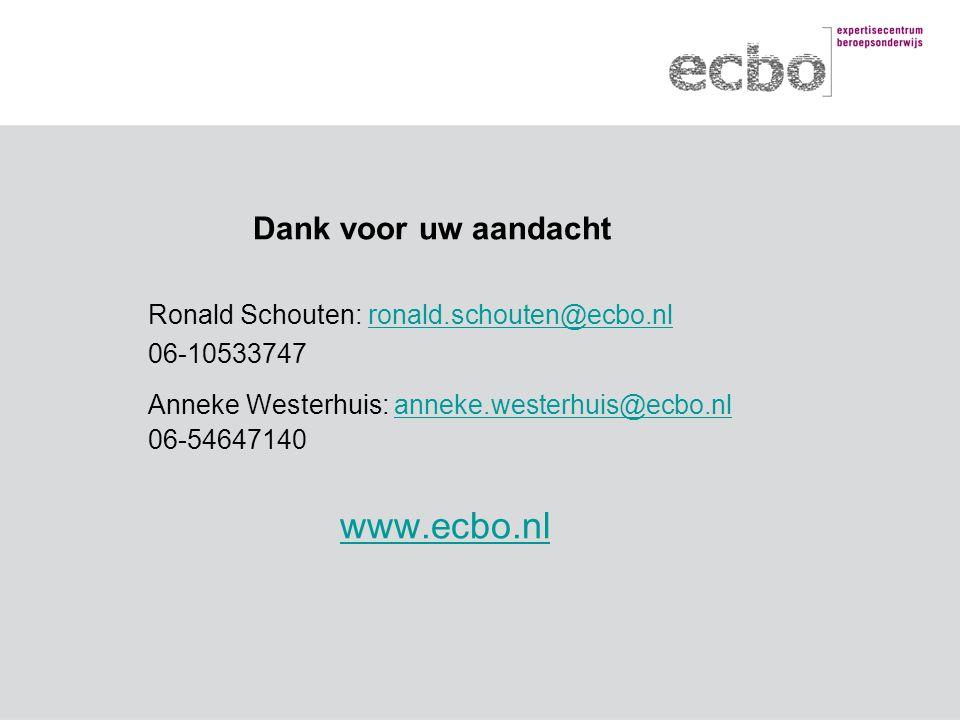 Anneke Westerhuis: anneke.westerhuis@ecbo.nl 06-54647140